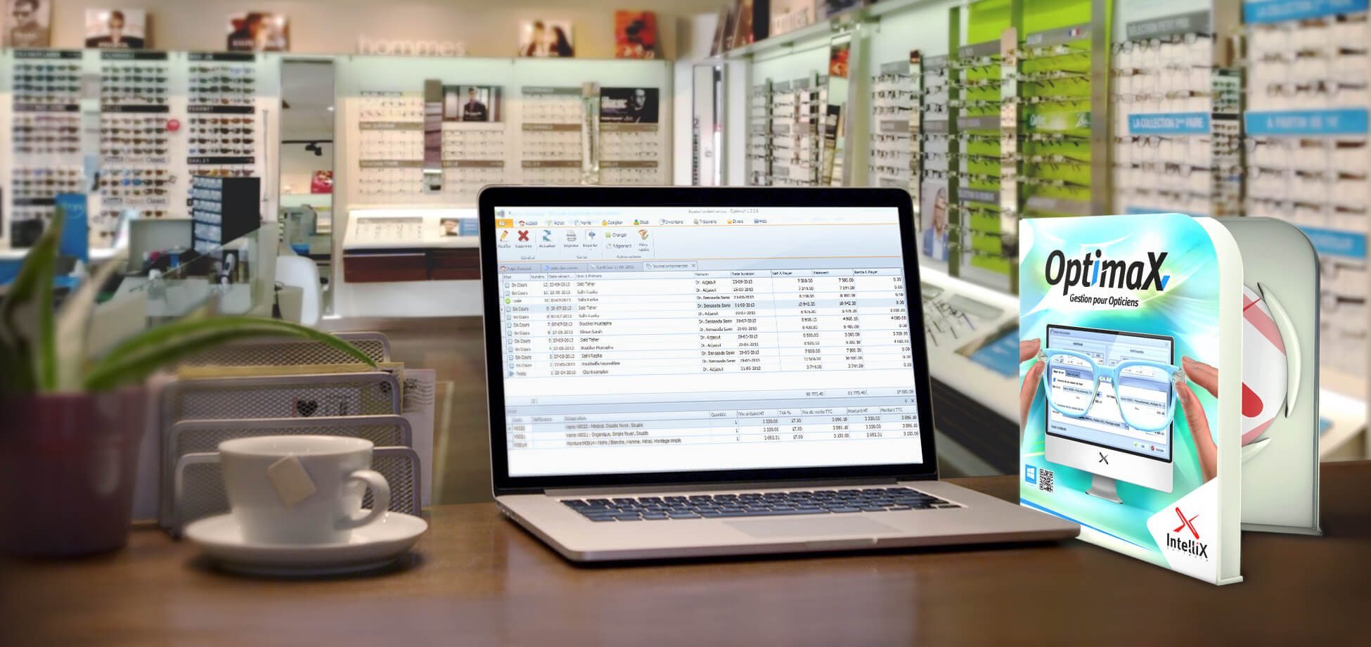 Slide Logiciel de Gestion pour Opticien IntelliX OptimaX