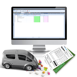 Pack Logiciel de Gestion de la distribution de Médicaments IntelliX PharmaCom et IntelliX PharmaLab